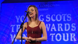Iona Fyfe at the Young Scots Trad Awards Winner Tour in Syke, Germany, on  9 February 2019; photo Roland Wolter